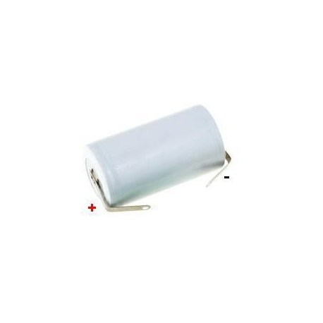 Batería NI-CD Recargable C-R14 1.2v.2.3A. con lengueta