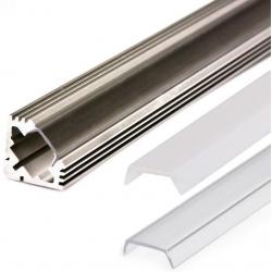 Perfil angular 45º de Aluminio para Tiras de Led