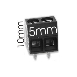 Borna 2Pin 10mmx5mm negro
