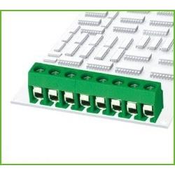 Bornas circuito impreso DG126 Verde 10mm recto paso 5mm