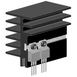 Disipador Térmico 45x30x1000mm de Aletas