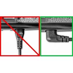 Cable de Red Angular ICC-C7-CEE 7/16 (C) Blanco o Negro