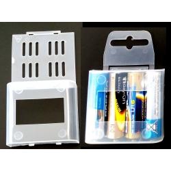 Caja Estuche de protección de Baterías 4xAA/14500/R6