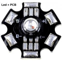 Led RGB Prolight 1w 6 pin+Pcb