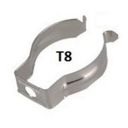 Clip de anclajes para Tubos T8