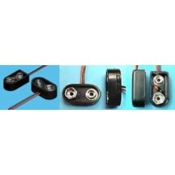 Clip Keyston para pilas o baterías 6F22 de 9v
