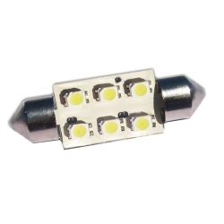 Festoon 6 LED 1210 SMD de 41mm