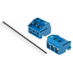 Bornas circuito impreso enchufables 5mm