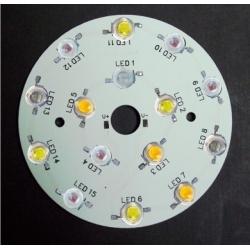 Circuito Impreso redondo para 15 Led Lumiled